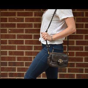 Coach crossbody purse (Chocolate leather)